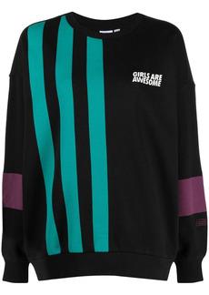 Adidas x Girls Are Awesome stripe-print sweatshirt