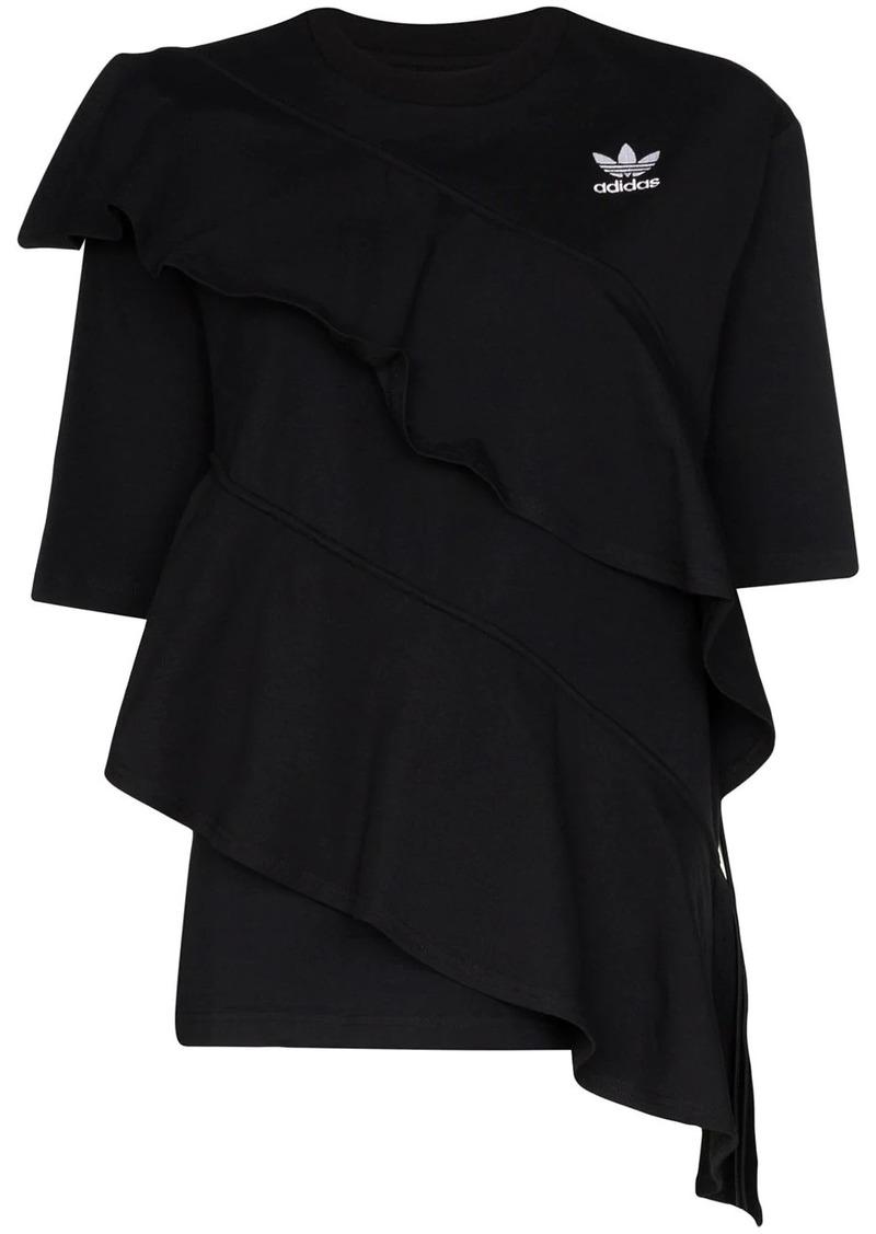 Adidas x J KOO ruffle trim T-shirt
