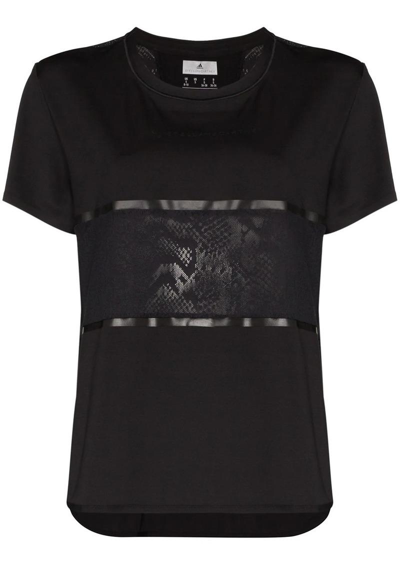 Adidas x Stella McCartney panelled logo-print T-shirt