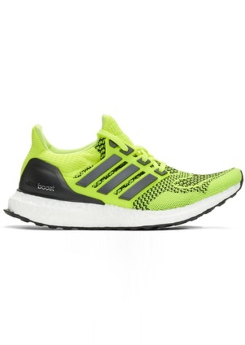 Adidas Yellow & Black UltraBOOST Sneakers
