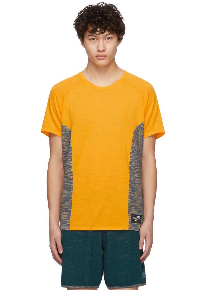 Adidas Yellow Wool Cru T-Shirt