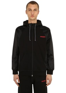 Adidas Zip Up Tech & Cotton Sweatshirt Hoodie