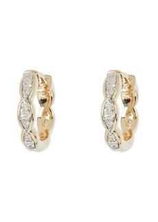 Adina Reyter Pavé Marquis Huggie Hoop Earrings