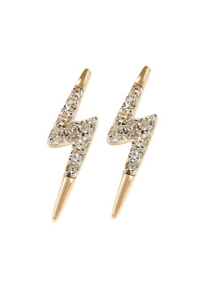 Adina Reyter Tiny Pavé Lightning Bolt Stud Earrings