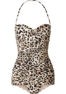 Adriana Degreas Charlotte Olympia Leopard-print Swimsuit