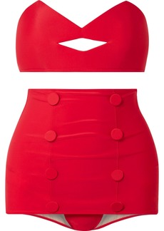 Adriana Degreas Charlotte Olympia Pin-up Kiss Bandeau Bikini