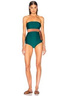 ADRIANA DEGREAS Cinque Terre Strapless Bikini With Knot Detail