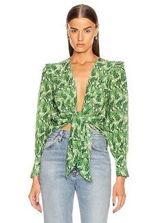 ADRIANA DEGREAS Dahlia Shirt With Voluminous Sleeves