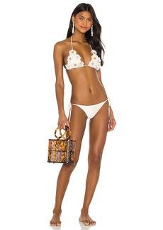 ADRIANA DEGREAS Daisy Triangle Bikini Set
