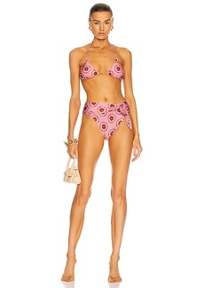 ADRIANA DEGREAS Exotic Passion High Leg Bikini With Knot