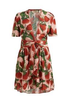 Adriana Degreas Fiore floral-print mini dress