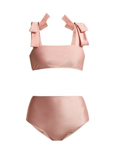 Adriana Degreas Fiore Solis bow-embellished bikini