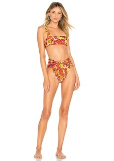 ADRIANA DEGREAS Fruits Print High Leg Bikini Set