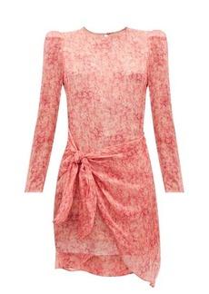 Adriana Degreas Hydrangea-print tiered sun dress