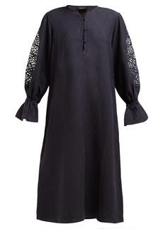 Adriana Degreas Marine linen-blend midi-dress