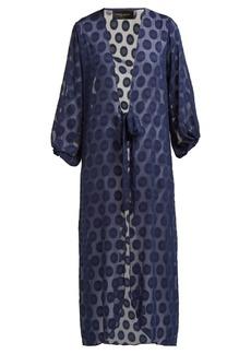 Adriana Degreas Marine polka-dot robe