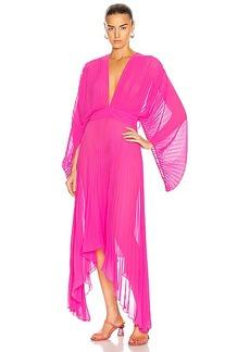 ADRIANA DEGREAS Pleated Midi Dress