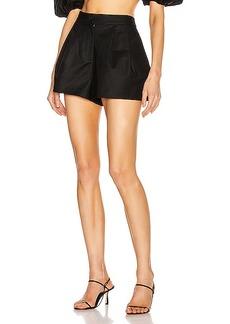 ADRIANA DEGREAS Pleated Shorts