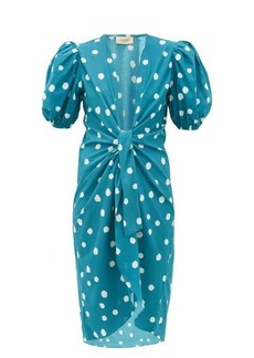 Adriana Degreas Knotted polka-dot cotton cover up