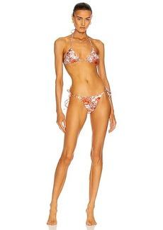 ADRIANA DEGREAS Seashell Triangle With Side Ties Bikini