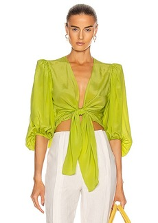 ADRIANA DEGREAS Solid Shirt With Voluminous Sleeves