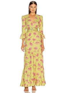 ADRIANA DEGREAS Wild Flower Long Dress