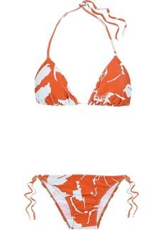 Adriana Degreas Woman Printed Triangle Bikini Orange