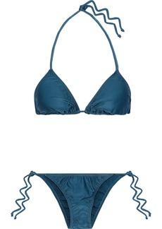 Adriana Degreas Woman Cutout Triangle Bikini Petrol