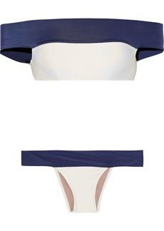 Adriana Degreas Woman Off-the-shoulder Bikini Navy