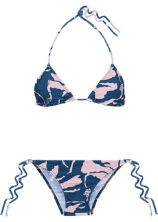 Adriana Degreas Woman Printed Triangle Bikini Blue