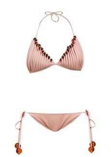 Adriana Degreas x Cult Gaia Beaded halterneck bikini