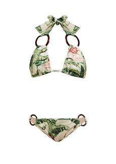 Adriana Degreas x Cult Gaia X Cult Gaia tropical-print halterneck bikini