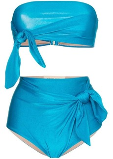 Adriana Degreas Vishy bandeau knot detail bikini