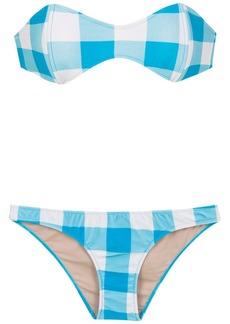 Adriana Degreas checked sleeveless bikini set
