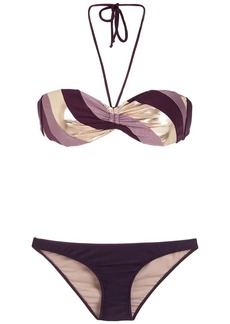 Adriana Degreas color block bikini set