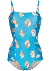 Adriana Degreas Conchiglie Shell printed swimsuit