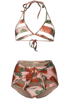 Adriana Degreas cutout triangle top high waist bikini