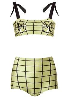 Adriana Degreas grid print bikini set