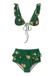 Adriana Degreas Josephine Baker Ruffle Bikini