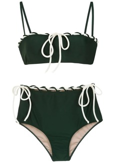 Adriana Degreas lace up detail bikini set