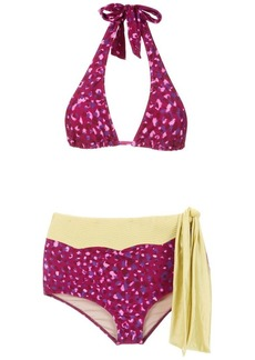 Adriana Degreas Pomegranate hot pants bikini set