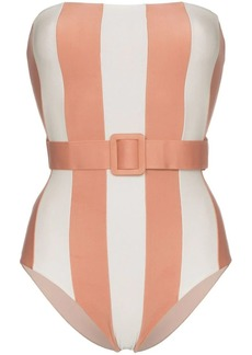 Adriana Degreas Porto belted bandeau swimsuit