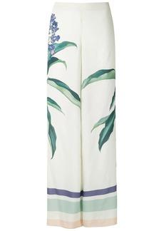 Adriana Degreas printed wide leg trousers