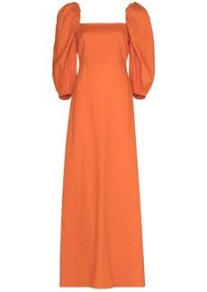 Adriana Degreas puff-sleeve maxi dress