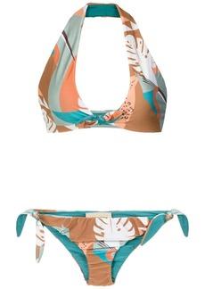Adriana Degreas 'Tropiques' halterneck bikini set