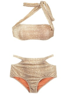 Adriana Degreas velvet hot pants bikini set