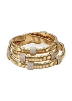 Adriana Orsini 10K Gold-Plated Pavé Station Wrap Bracelet