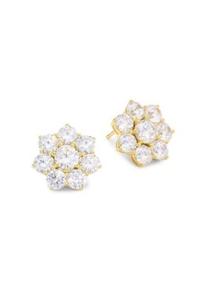 Adriana Orsini 18K Goldplated Sterling Silver Floral Stud Earrings