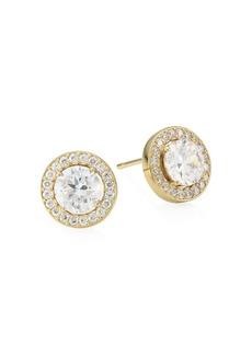 Adriana Orsini 18K Goldplated Sterling Silver Framed Round Stud Earrings