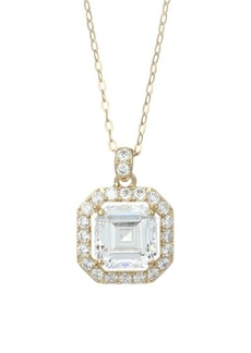 Adriana Orsini 18K Goldplated Sterling Silver Framed Square Pendant Necklace